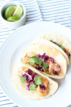 Shrimp Tacos with Spicy Aioli | yours truly paper
