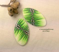 Polymer Clay Shields - Melanie West style caning