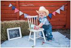 Country Themed Cake Smash Photos, First Birthday Photography