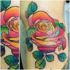 This Tattoo Artist's Neon Designs Will Brighten Up Your Day via Brit + Co