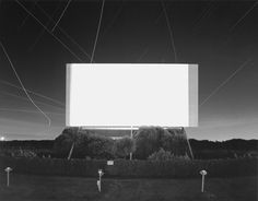 hiroshi sugimoto, Union City Drive in, 1993 Dimensions: 20 x 24 in. Medium: gelatin silver print mounted on paper Edition 25 Madame Tussauds, Drive In Theater, Movie Theater, Theatre, Illusion, Hiroshi Sugimoto, Hirshhorn Museum, Station To Station, Outdoor Theater