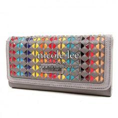 Nicole Lee. Rainbow weave checkbook wallet. Good size. <3