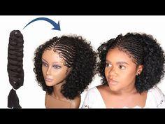 Diy Braids, Braids Wig, Expression Braids, Braids With Extensions, Curls, Wigs, Closure, Crochet, Youtube