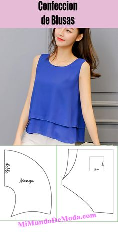 Diy Fashion, Fashion Outfits, Western Tops, Sewing Hacks, Sewing Tips, Chiffon, Classy, Couture, Casual