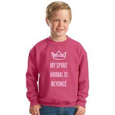 My Spirit Animal Is Beyonce Kids Sweatshirt