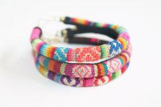 Tibal Ethnic Inca Bracelets Neon Southwestern by jackandhazelstore, $34.99