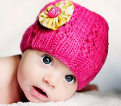 Girl's Knitted Hat with Vintage Button by Sheeps Clothing. $36.00, via Etsy.