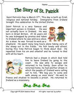 St Patrick Day Worksheet for Childrens