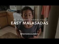 """Malasadas are one of the """"must-have"""" local foods of Hawaii so make sure you try one when visiting Oahu. Try our easy kid-friendly malasada recipe! Easy Malasadas Recipe, Pork Wraps, Polynesian Food, Brownie Bar, Fun Desserts, Dessert Recipes, Biscuit Recipe, Hawaiian, Oahu"""