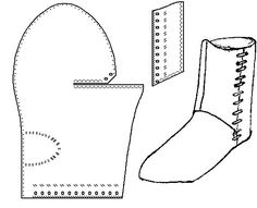 turnshoe - medieval boot pattern by gloriaU
