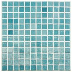 Merola Tile Ruidera Square Niebla Azul 13 in. x 13 in. x 5 mm Glass Mosaic Tile GTORSNAZ at The Home Depot - Mobile