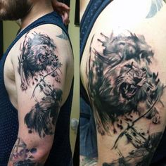 Lion Archer Archery Tattoos For Men On Upper Arm