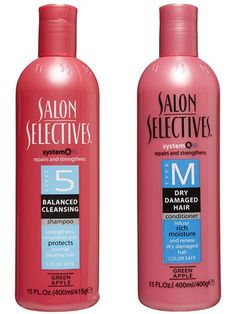 Salon Selectives shampoo and conditioner Want to know what made us feel fancy in the '80s? Buying our first set of matching shampoo and conditioner, which smelled deliciously like green apples. Even more mind-blowing? Each set of Salon Selectives was labeled with a level corresponding to your hair type. Fine, thin hair? You were a level 7.