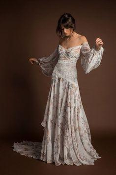 New Rue De Seine Wedding Dresses + Trunk Shows - . New Rue De Seine Wedding Dresses + Trunk Shows - Dress Vestidos, Maxi Dresses, Flowing Dresses, Hippie Dresses, Bohemian Wedding Dresses, Bohemian Formal Dress, Boho Gown, Off Shoulder Wedding Dress Bohemian, Wedding Gowns