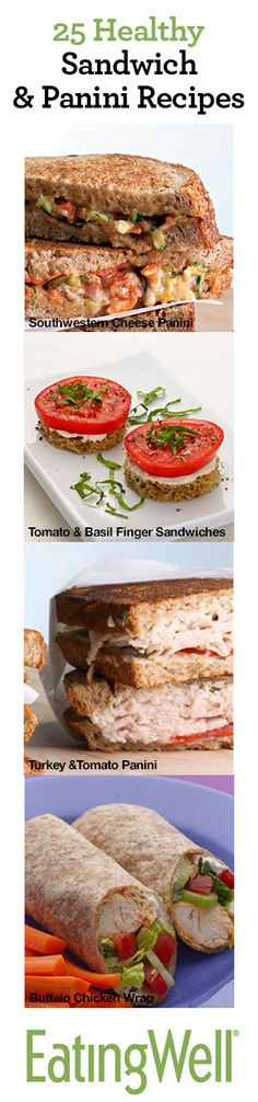 25 Healthy Sanwich & Panini Recipes for #backtoschool lunch ideas