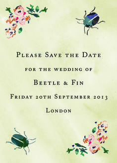 Wedding Save The Date, designed by Fin Fellowes