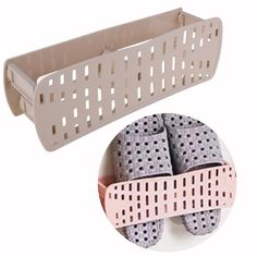 Aliexpress.com : Buy Wall Mounted Sticky Hanging Shoe Holder Folding Hanging Paste Shoes Slipper Storage Rack Holder Organizer for Home Bathroom Room from Reliable rack holder organizer suppliers on VK Kitchen Supplies Store