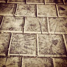Wooden cobbles- so lovley!!