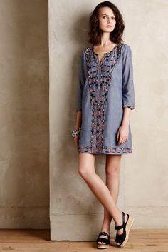 f43dbeddc4f2f Anthropologie Sayulita embroidered Tunic Dress by Corey Lynn Calter size S