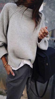 Winter knitwear layers