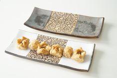 Un plato para servir, juego de 2, bandeja de aperitivos, Snack placa, oliva placa, bandeja de Tapas, placa de cerámica, cerámica y alfarería, bandeja de aperitivo, plato de Sushi
