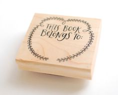 Bookplate Stamp // This Book Belongs To Hand by EmDashPaperCo, $24.00