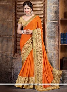 Designed with simplicity with a touch of soberness in its work makes a masterpiece. This mustard lycra classic designer saree is including the desirable glamorous displaying the sense of cute and grac...