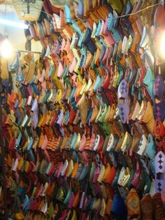 Marrakech shoe store