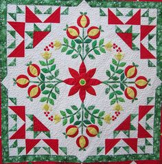 Jingle Quilt | Hip to be a Square Podcast.  A 2013 quilt along with Erin Russek.