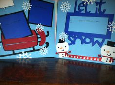 Let it Snow with Sled Pre Made 12 x 12 Double by aSavvyScrapbooker, $12.00