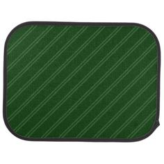 #stripes - #Green with Double Pin Stripes Rear Car Mat