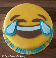 A cake just right for celebrating a happy occasion like Charley's birthday! Emoji Cake, Cupcake Cakes, Cupcakes, 12th Birthday, Sweet Cakes, Party Cakes, Cookies, Desserts, Decorations