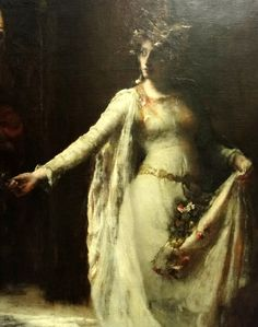 Henrietta Rae (1859-1928) - Ophelia, 1890: detail