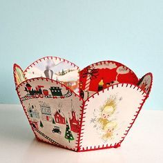 #christmas DIY christmas card bowl Oh my, I remember my grandmother made these in the 60's........... Vintage love!