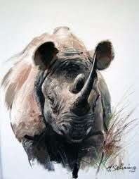 rhino paintings - Google Search