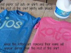 Writing on shirts! This is the best thing ever because my name is Jo and one of my best friends name is Kate!!