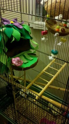 A nest I made for the sugar gliders!