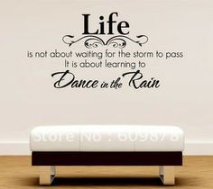 dance quote- Love this classic quote, this wall font and arrangement AND THE BENCH!!