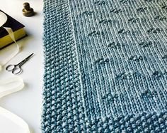 Blanket KNITTING PATTERN / Stones in the Road / Throw / Afghan