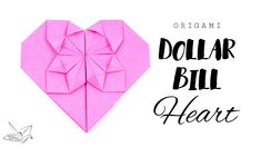 Money Origami Heart Tutorial  DIY  Paper Kawaii #origami #paperkawaii
