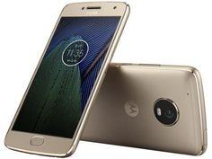 """Smartphone Motorola Moto G5 Plus 32GB Ouro - Dual Chip Câm. 12MP + Selfie 5MP Tela 5.2"""" Full HD com as melhores condições você encontra no Magazine Smarterinfocel. Confira!"""