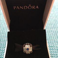 Pandora enamel Blue Daisy charm Retired Pandora Jewelry Bracelets