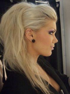 love the makeup&volumed hair