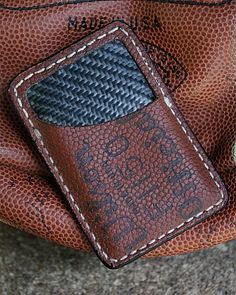 Limited Edition Vvault Front Pocket Wallet-Built From Old Footballs - Christmas Gifts For Boyfriend, Boyfriend Gifts, Best Gifts For Men, Cool Gifts, Back Bag, Front Pocket Wallet, Best Wallet, Baseball Mom, Leather Projects