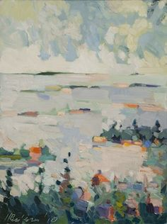 Henry Isaacs. perhaps view from Isleford off the coast of Maine