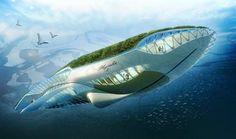 Physalia, un vaisseau géant pour naviguer sur les fleuves d'Europe ou sur le Tigre et l'Euphrate. Démonstrateur scientifique, il étudierait et montrerait des techniques d'épuration de l'eau et d'autosuffisance, capable de dépolluer les voies d'eau dans lesquelles il se déplace.