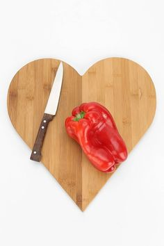 Heart Cutting Board #urban outfitters