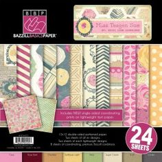 Miss Teagen Sue Collection - 12 x 12 Paper Pad by Bazzill