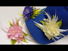 Beautiful ribbon decoration/Hermosa decoración de la cinta/Красивое украшение из лент - YouTube