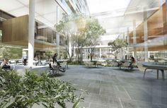 Indoor gardon. New Aalborg University Hospital.
